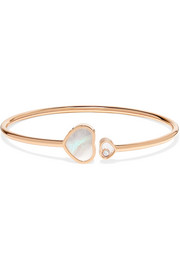 Happy Hearts 18-karat rose gold, diamond and mother-of-pearl cuff