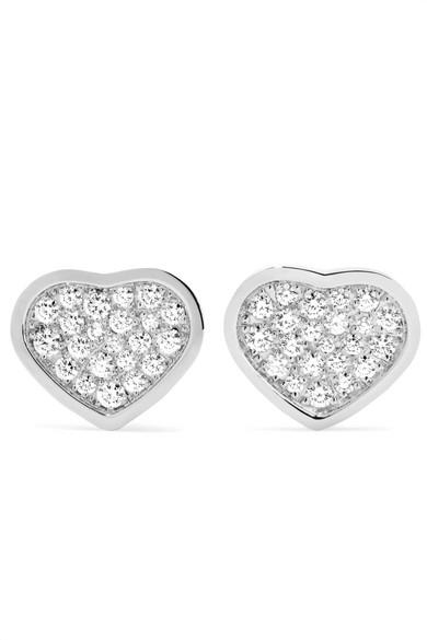 Happy Hearts 18-karat Rose Gold Diamond Earrings - one size Chopard XDUmRoDdp