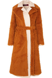 Sies Marjan Mamie layered faux shearling and cotton-canvas trench coat
