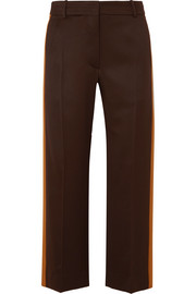 Sies Marjan Bexley cropped striped wool-twill straight-leg pants