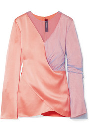 Sies Marjan Bari draped satin and tulle blouse
