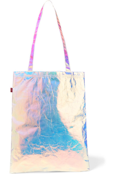 Sies Marjan - Farah Iridescent Crinkled-cotton Canvas Tote - Silver
