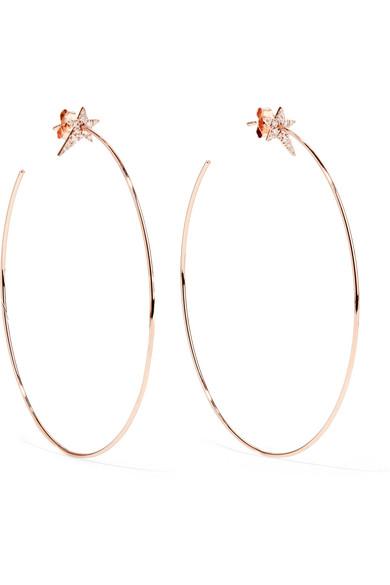 Diane Kordas 18-KARAT ROSE GOLD DIAMOND HOOP EARRINGS