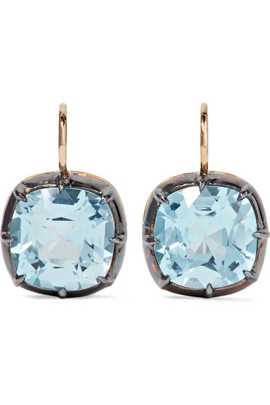 Fred Leighton - Collection 18-karat Gold, Silver And Topaz Earrings
