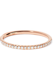 Thread 18-karat rose gold diamond eternity ring