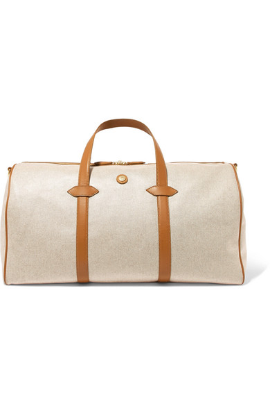 7fae894785 Paravel. Main Line Duffel leather-trimmed canvas weekend bag
