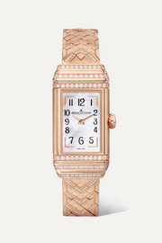 Reverso One Duetto 36.3mm rose gold and diamond watch