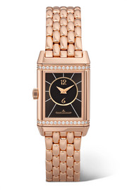 Reverso Classic Duetto small rose gold and diamond watch