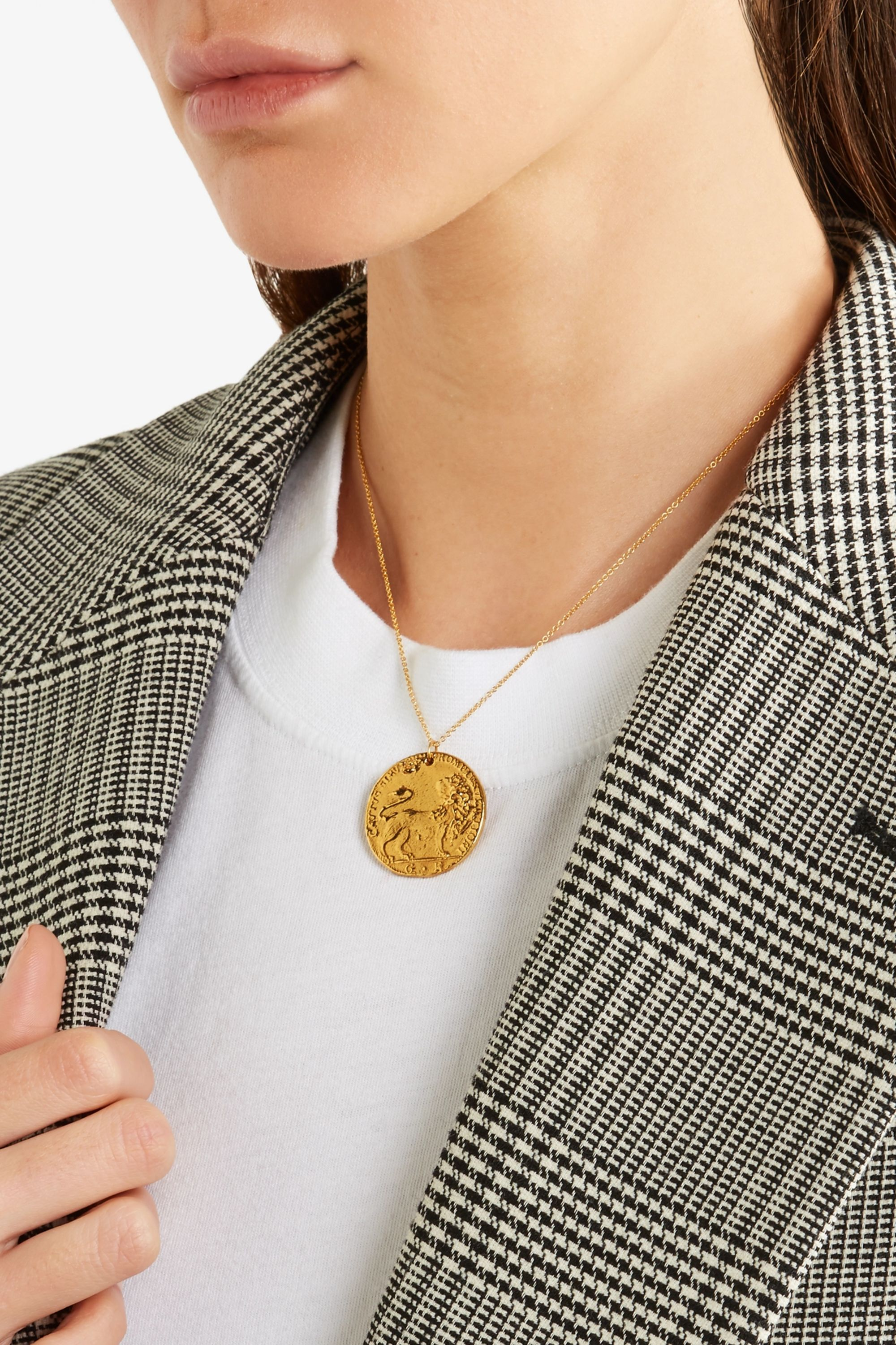 Alighieri Il Leone Medallion gold-plated necklace