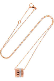 Quatre Radiant Edition 18-karat rose and white gold diamond necklace