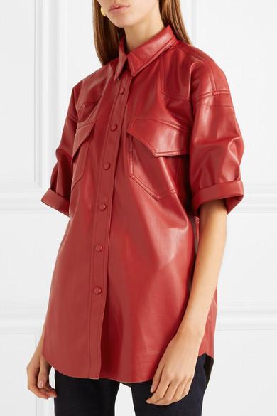 620d535650dcbc Nanushka | Seymour vegan faux leather shirt | NET-A-PORTER.COM