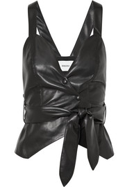 Levi cropped vegan faux leather top