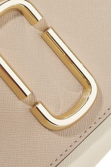 Marc Jacobs Snapshot Schultertasche aus strukturiertem Leder in Colour-Block-Optik