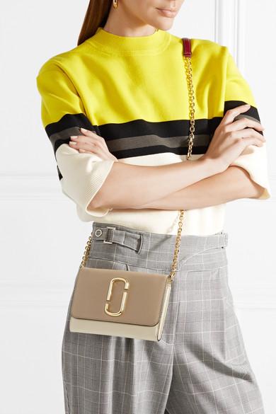 Marc Jacobs Snapshot Schultertasche aus strukturiertem Leder in Colour-Block-Optik Geniue Händler Verkauf Online HEYurHr2