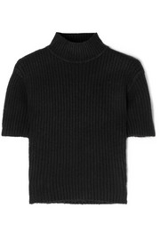 Claudia cutout ribbed-knit turtleneck sweater