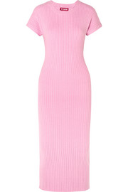 Janice ribbed-knit midi dress