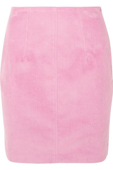 STAUD - Phoebe Corduroy Mini Skirt - Baby pink