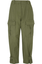 Tapered cotton-twill cargo pants