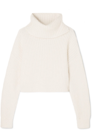 Cropped Ribbed Wool Blend Turtleneck Sweater by 3.1 Phillip Lim