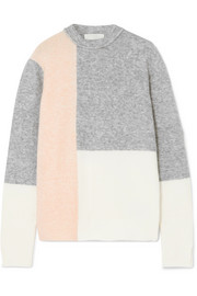 Lofty color-block knitted sweater