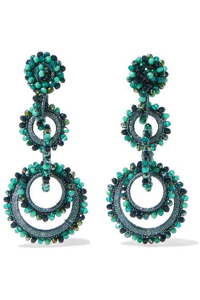 BIBI MARINI Sundrop Bead And Silk Earrings in Turquoise