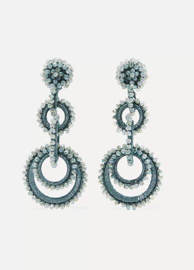 BIBI MARINI Sundrop Bead And Silk Earrings in Blue