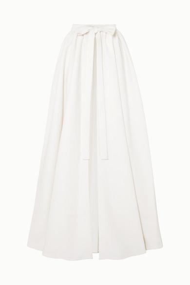 EMILIA WICKSTEAD Sorrento Cloqué Wrap Maxi Skirt in Ivory
