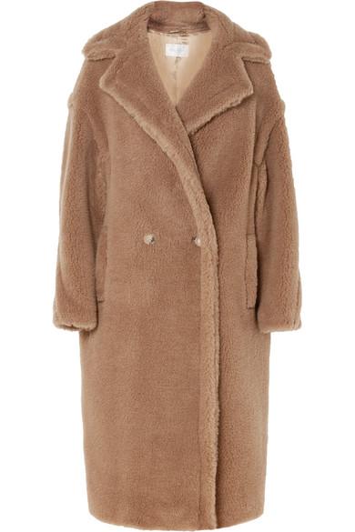 TEDDY BEAR CAMEL HAIR AND SILK-BLEND COAT