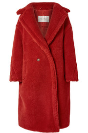 Teddy Bear camel hair and silk-blend coat