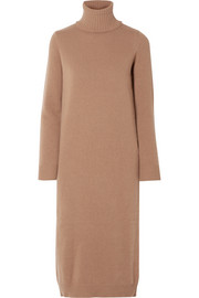 Wool and cashmere-blend turtleneck midi dress