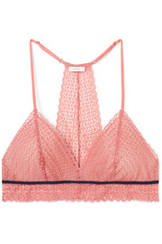 The Merry Me stretch-lace and tulle soft-cup triangle bra