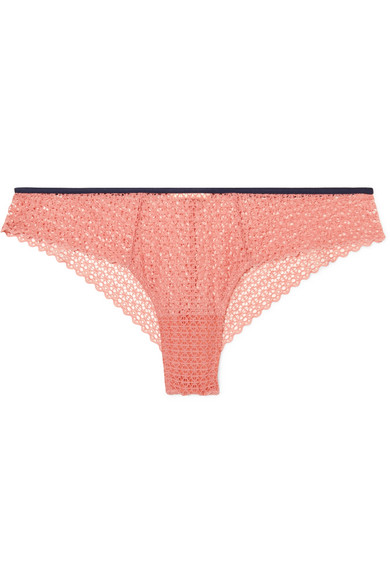 EBERJEY THE FRILLY STRETCH-LACE BRIEFS