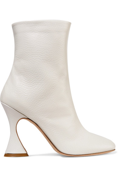 Sies Marjan - Emma Textured-leather Ankle Boots - Off-white