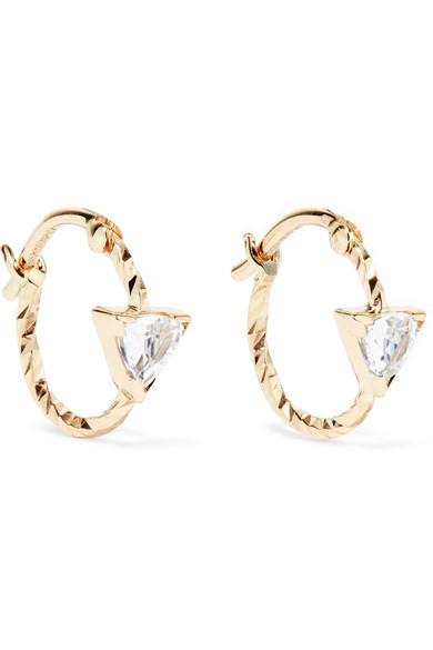 Viper 14 Karat Gold Sapphire Hoop Earrings by Maria Black