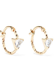 Viper 14-karat gold sapphire hoop earrings