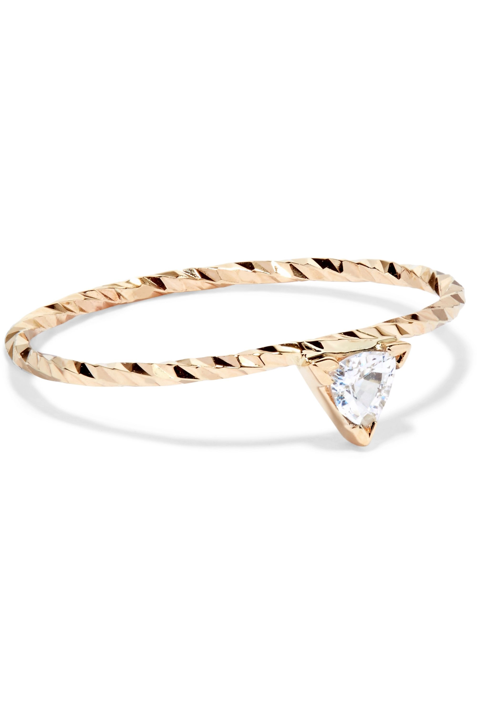 Maria Black Viper 14-karat gold sapphire ring