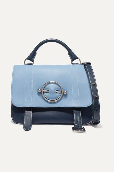JW Anderson - Disc Two-tone Leather Shoulder Bag - Sky blue