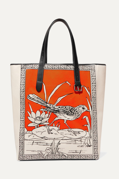 f4ba512b2209 JW Anderson | Leather-trimmed printed canvas tote | NET-A-PORTER.COM