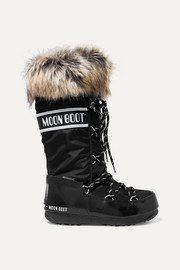 Moon Boot Monaco shell and rubber snow boots