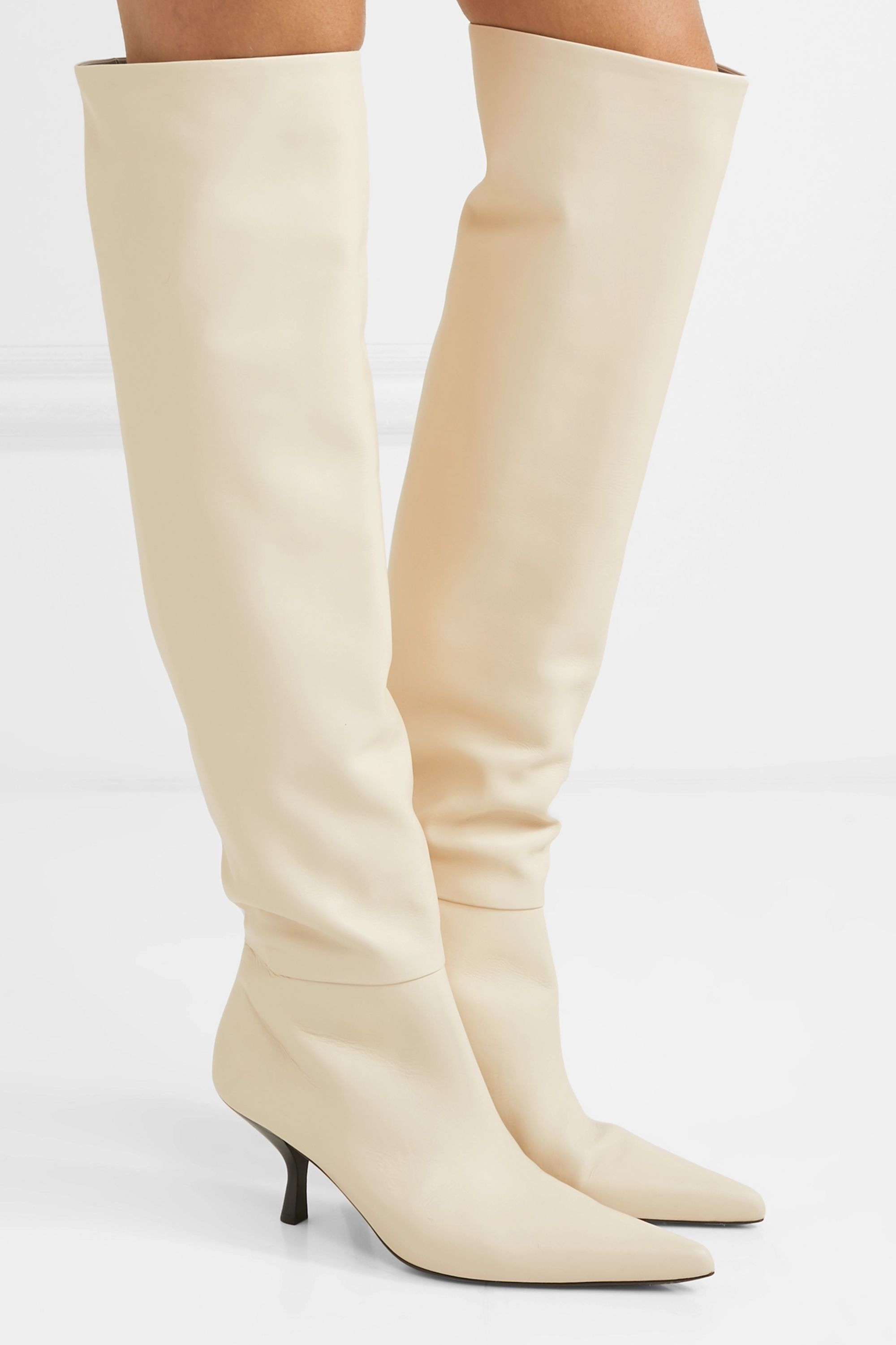 The Row Bourgeoise leather knee boots