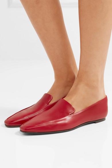 The | Row | The Minimal Loafers aus Leder 387ba0