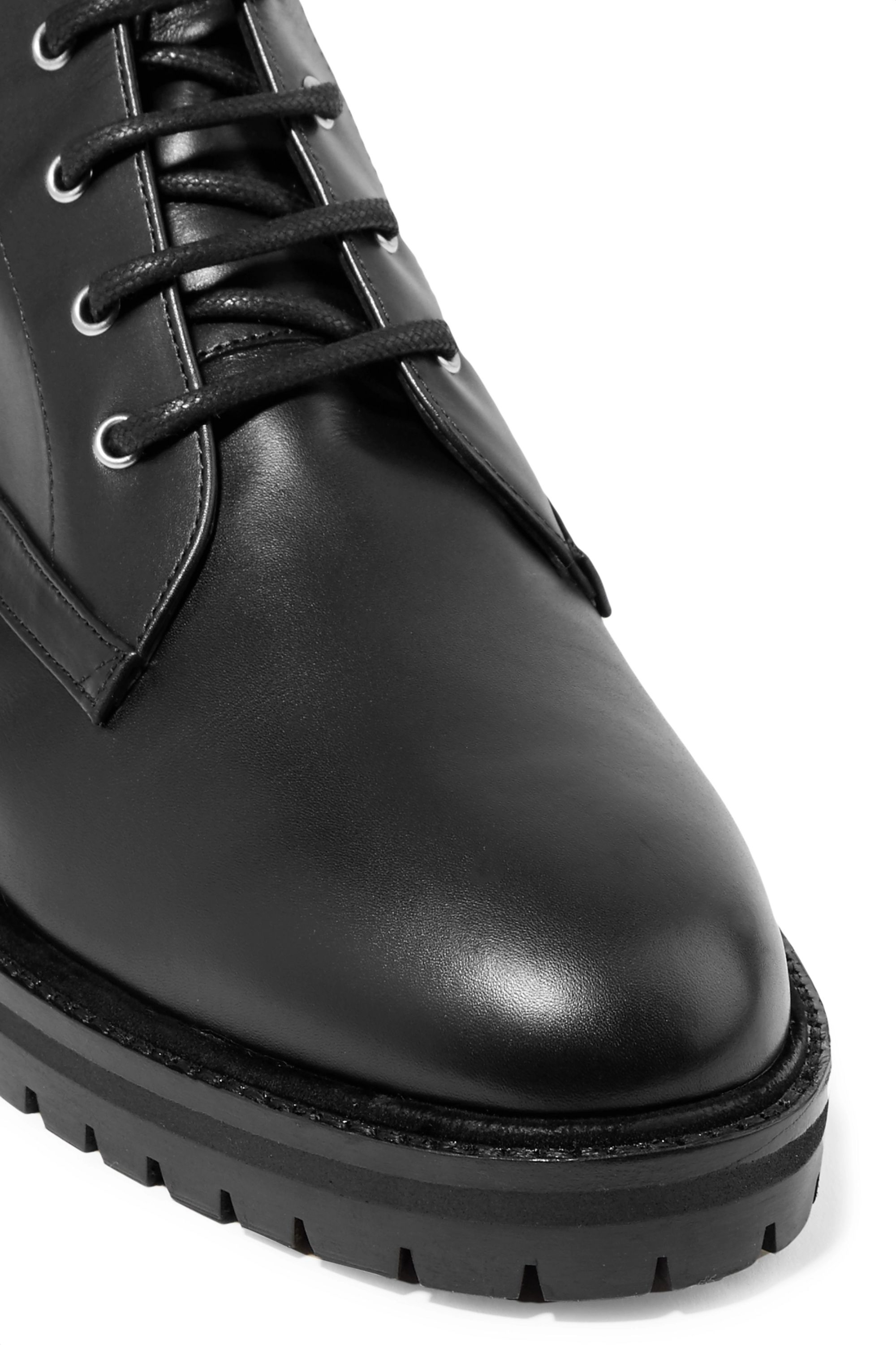 Black Max leather ankle boots | Tabitha
