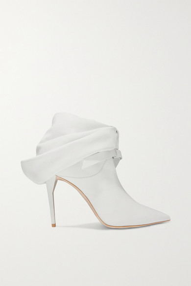 f22cfc779 Miu Miu   Bow-embellished leather ankle boots   NET-A-PORTER.COM