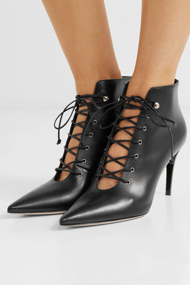 Net com Lace Porter Boots Leather A Miu Ankle Up Oqnfz