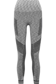 Focus cropped paneled stretch leggings