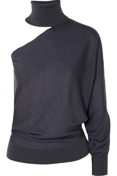 Brunello Cucinelli One Shoulder Cutout Cashmere And Silk Blend