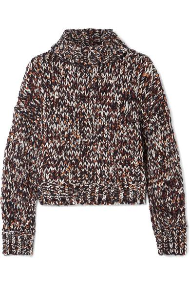 Brunello Cucinelli - Sequined Chenille Turtleneck Sweater - Navy