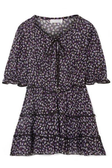Altuzarra - Tiered Floral-print Silk-blend Chiffon Blouse - Black