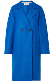 Oversized double-breasted wool-felt coat