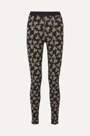 Printed stretch-cotton jersey leggings